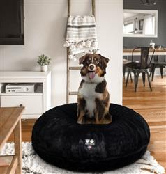 Bagel Bed - Short Shag Black Panther or Customize your Own