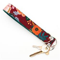 'Lively' Wine Rifle Paper Co Wristlet Key Fob