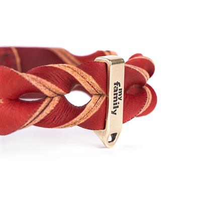 Red Greased Leather ASCOT Collar | Leash
