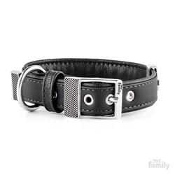 Black Leatherette BILBAO Collar | Leash