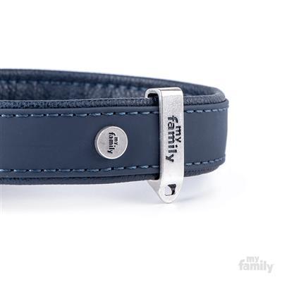 Blue Leatherette BILBAO Collar | Leash