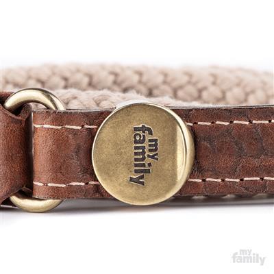 Brown Leather & Beige Rope EL PASO Leash