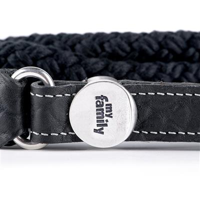 Black Leather & Rope EL PASO Leash