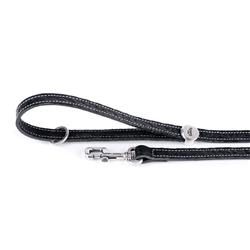 Black Embroidered Leather EL PASO Leash