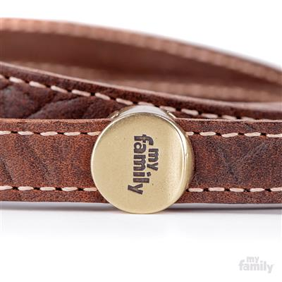 Brown Embroidered Leather EL PASO Leash