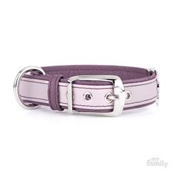 Pink & Purple Leather FIRENZE Collar | Leash