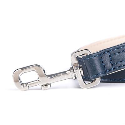 Blue & Cream Leather HERMITAGE Collar | Leash