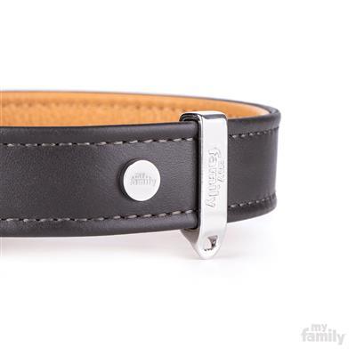 Brown & Tan Leather HERMITAGE Collar   Leash
