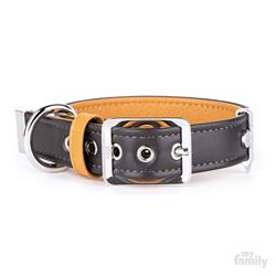 Brown & Tan Leather HERMITAGE Collar | Leash