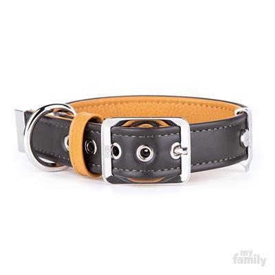 Brown & Tan Leather HERMITAGE Collar | Leash