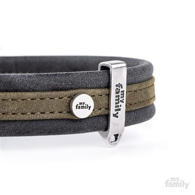 Green & Black Leatherette LONDON Collar | Leash