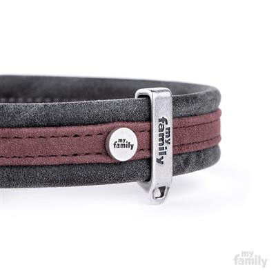 Purple & Black Leatherette LONDON Collar | Leash