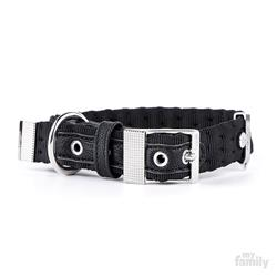 Black Nylon MILANO Collar | Leash