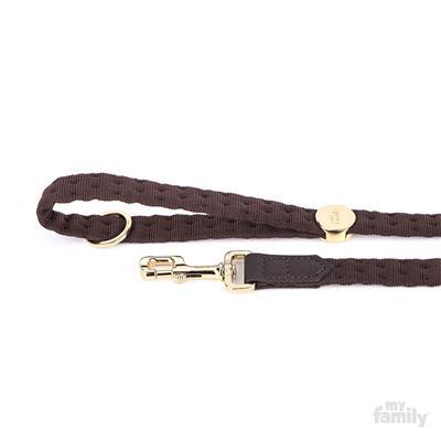 Brown Nylon MILANO Collar   Leash