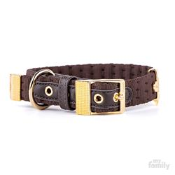 Brown Nylon MILANO Collar | Leash