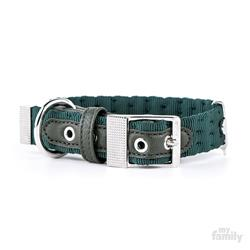 Green Nylon MILANO Collar | Leash