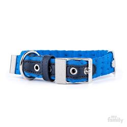 Light Blue Nylon MILANO Collar | Leash