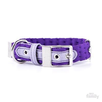 Purple Nylon MILANO Collar | Leash
