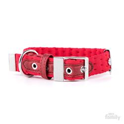 Red Nylon MILANO Collar | Leash