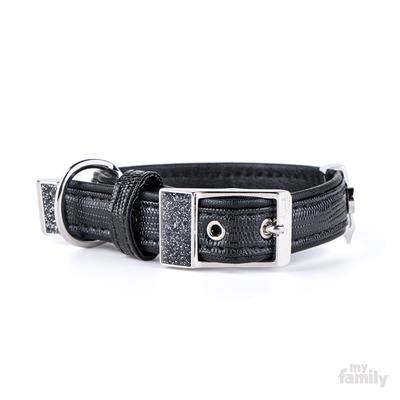 Black Leatherette SAINT TROPEZ Collar | Leash