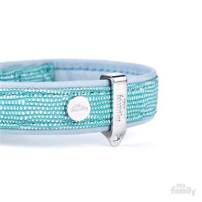 Turquoise Leatherette SAINT TROPEZ Collar | Leash