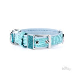 Turquoise Leatherette SAINT TROPEZ Collar | Leash