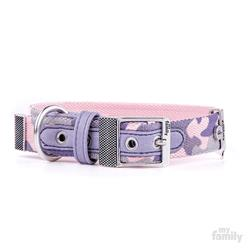 Military Pink WEST POINT Nylon Collar | Rope Leash