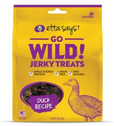 Etta Says Go Wild! Jerky Treats Duck Recipe, wt 6oz