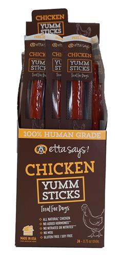 Etta Says Chicken Yumm Sticks - 24 per display box