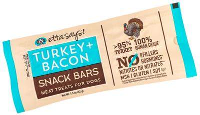 Etta Says! Meat snack Bar, Turkey + Bacon - 1.5oz  - 12 per display box