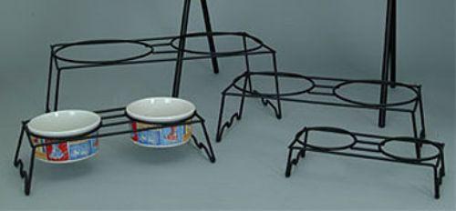 Dual Metal Bowl Stand