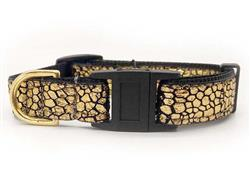 Monty Metallic 24 Karat Gold Cat Collar