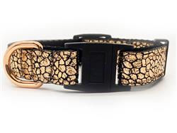 Monty Metallic Rose Gold Cat Collar