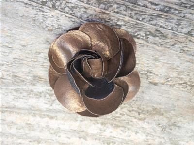 Coco Copper Dog Collar Flower