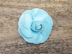 Coco Light Blue Dog Collar Flower