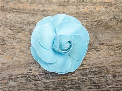 Coco Light Blue Dog Collar Flower