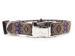 Borgia Dog Collar Silver Metal Buckles