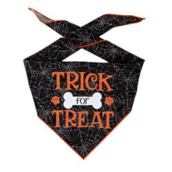 Halloween Bandana | Halloween Dog Bandana | Black Spider Web | Trick for Treat
