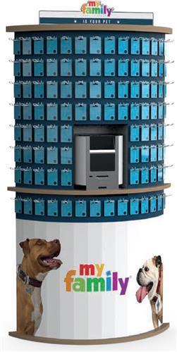 Wall 100 Piece Pet Tag Display D