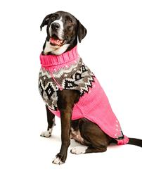 Bubblegum Fairisle Wool Dog Sweater
