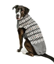 Alpaca Silver Fairisle Dog Sweater