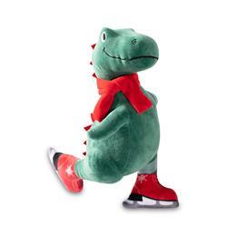 Ice Skating T-Rex Dog Toy