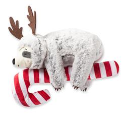 Sloth Hanging On A Candy Cane Dog Toy