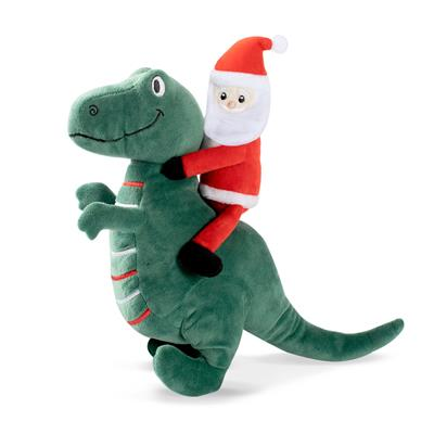 Santa Saurus Rex Dog Toy