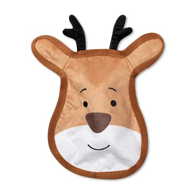 Reindeer Face Durable Dog Toy