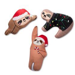 Christmas Sloths Mini Dog Toys - Set Of 3