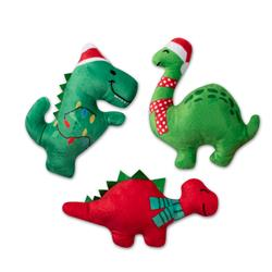 Christmas Dinos Mini Dog Toys - Set Of 3