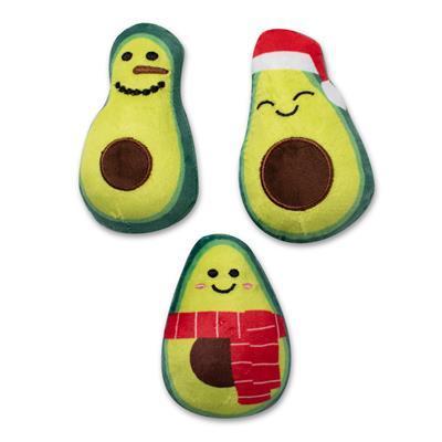 Holiday Avocados Mini Dog Toys - Set Of 3
