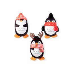 Penguin Mini Dog Toys - Set Of 3