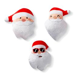 Santa Heads Mini Dog Toys - Set Of 3